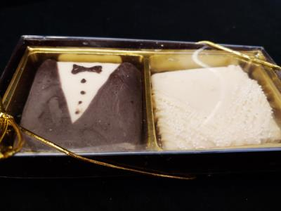 Chocolate Covered Grammar Cracker Tux & Bride in a box